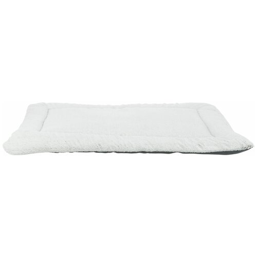 Лежак-подстилка Farello, плюш / ткань, 130 х 85 см, бело-серый / серый, Trixie (37238)
