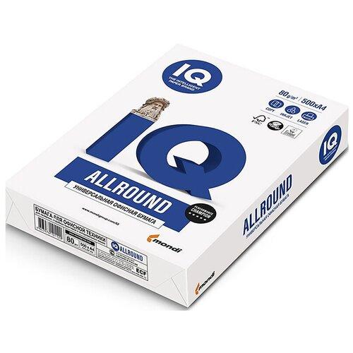 Фото - Бумага IQ Allround А4, марка В, 80 г/кв.м, (500 листов) бумага iq allround а4 марка в 80 г м2 500 листов