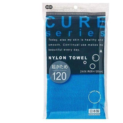 Мочалка для тела супержёсткая, 120 см. (синяя) OHE ohe мочалка awayuki для тела сверхжесткая удлиненная синяя 28х100 см 1 шт