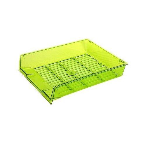 Купить Лоток для бумаг горизонтальный Attache Bright Colours решетчатый прозрачный зеленый 2 шт., Лотки для бумаги