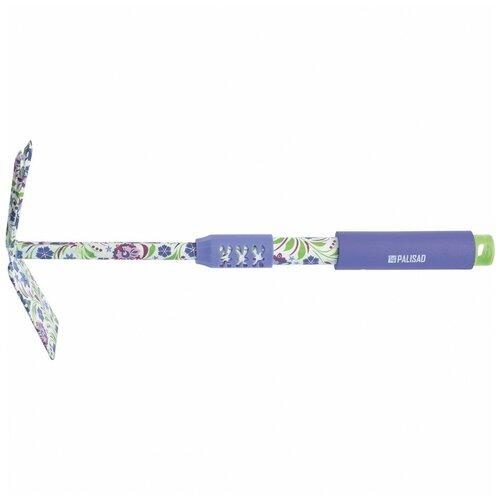 Мотыжка комбинированная, 70 x 385 мм, стальная, удлиненная рукоятка, Flower Mint Palisad