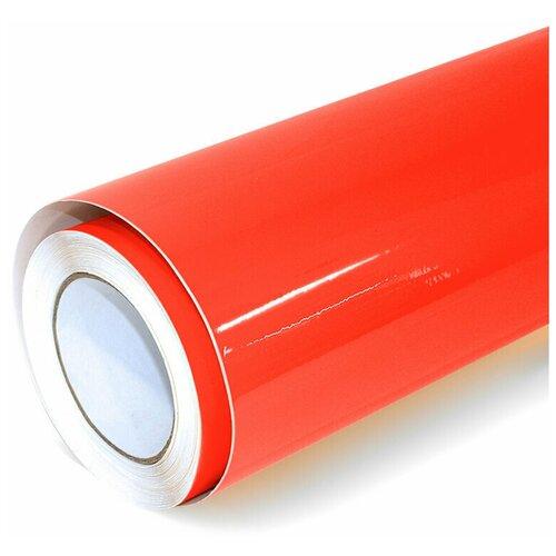 Виниловая рекламная пленка цветная глянцевая - для дизайна интерьера, плоттерной резки и наружной рекламы, цвет - красный, 70х152 см