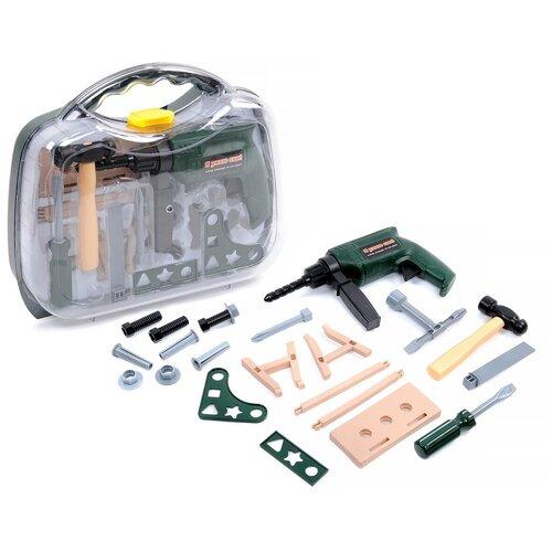 Набор игровой BeBoy инструменты с дрелью, 21 предмет, в чемоданчике
