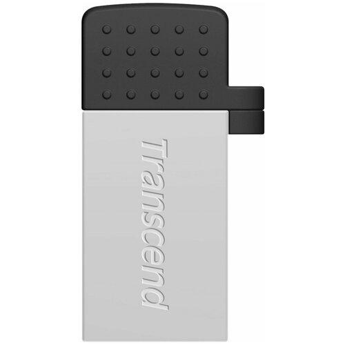 Флеш-накопитель USB 64GB Transcend JetFlash 380S (USB+microUSB) for Android smartphones