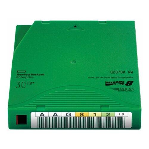 Фото - Магнитная лента незаписанная HPE HPE LTO-8 30TB RW Data Cartridge магнитная лента незаписанная hpe hp lto 6 ultrium 6 25tb rw data tape