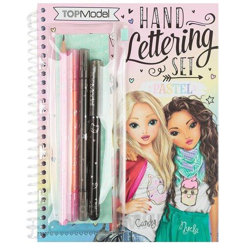 Купить Альбом для творчества с канцелярией Depesche Леттеринг TOPModel Hand Lettering Set Pastel (047778), Раскраски