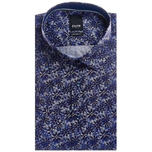 Рубашка pure размер L темно-синий/белый