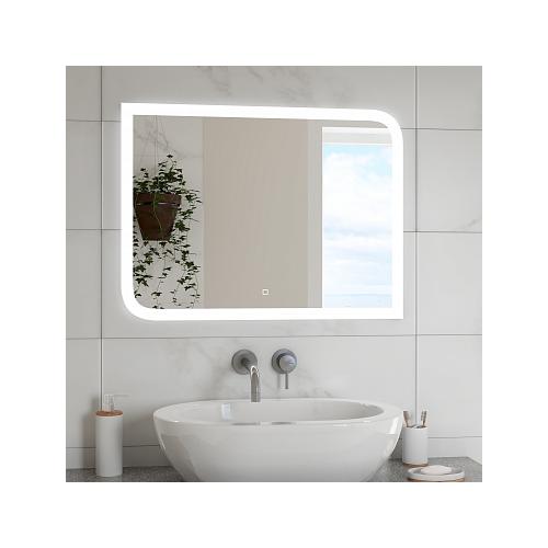 Зеркало Континент Fantasy LED (80*60 см, LED подсветка, сенсорный выключатель, часы, антизапотевание)