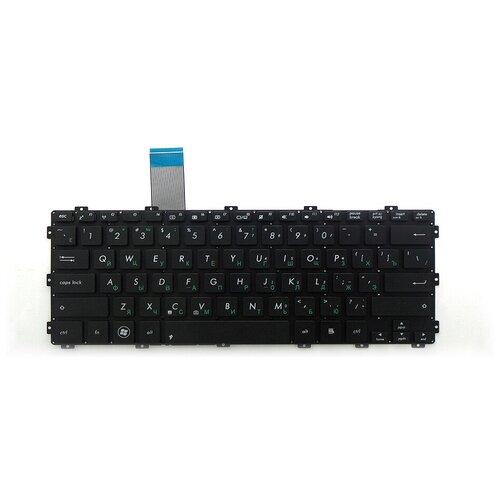 Клавиатура для ноутбука Asus F301, R300, X301, X301A, X301K Series. Плоский Enter. Черная, без рамки. PN: AEXJ6U00010.
