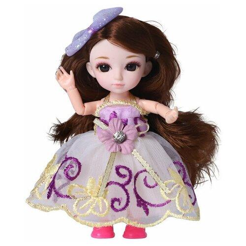 Кукла шарнирная Funky Toys Малышка Лили, брюнетка, с расческой, 16 см 72002