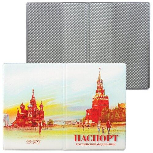 Обложка для паспорта, ПВХ, полноцветный рисунок, дизайн ассорти, ДПС, 2203.ПС