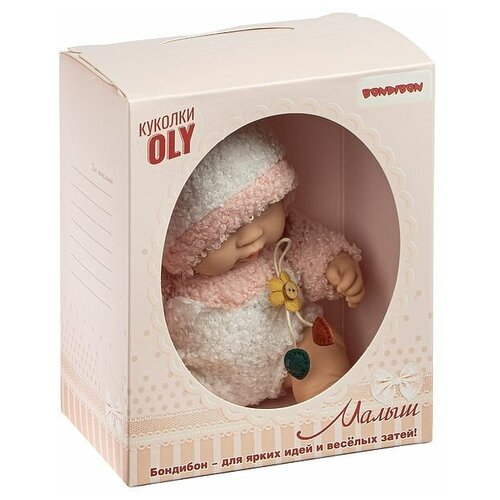 Фото - Кукла малыш Oly, Bondibon, размер 8, розов.костюм, ВОХ 17,8х14,5х10,3 см, арт. 226-4. мягкие игрушки bondibon кукла oly ника 26 см