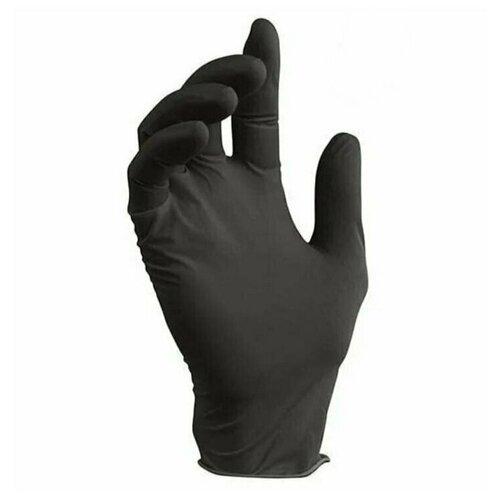 Фото - Нитриловые одноразовые перчатки Wally Plastic нестерильные, неопудренные, размер M, 100 шт (50 пар), цвет черный перчатки одноразовые нитриловые черные wally plastic размер m 100 шт 50 пар