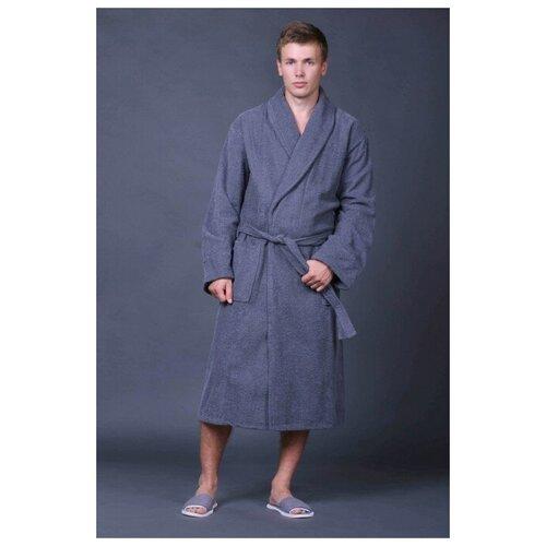 Доброе утро Мужской халат доброе утро элегия махра серый
