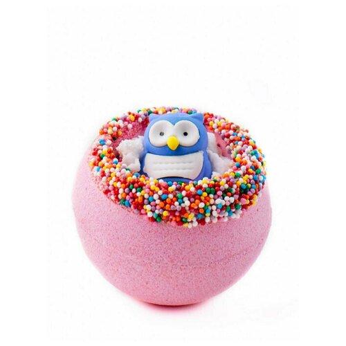 Бомбочка для ванны. Бурлящий шар с игрушкой Совёнок, гейзер шарик 290г шипучка для ванны