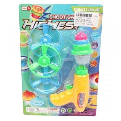 Купить Игрушка с запуском-юла, диск- 3шт(7см), юла (11*6, 3 см, свет, элементы питания - LR41*2-вх.), Наша игрушка, Юлы