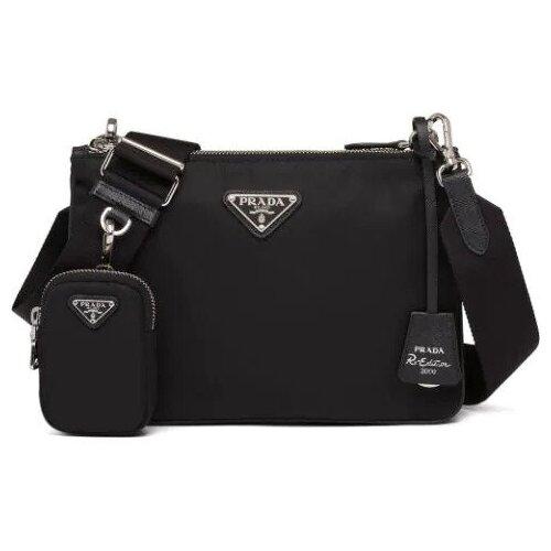 Женская сумка RE-EDITION черная prada стеганая черная сумка diagramme