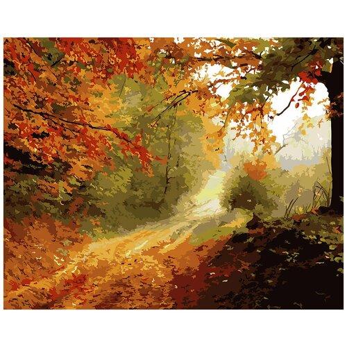 Купить Картина по номерам фрея Осенняя тропа 40х50 см, ФРЕЯ, Картины по номерам и контурам