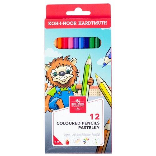 KOH-I-NOOR Карандаши цветные Lion, 12 цветов (3552012034KS)
