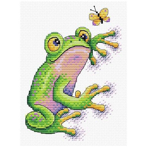 Купить Набор для вышивания М.П.Студия В №02 вышивка на одежде №534 Лягушка 10 х 14 см 1 шт., Жар-птица, Наборы для вышивания