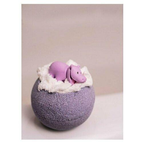 Бомбочка для ванны. Бурлящий шар с игрушкой Бегемотик, гейзер шарик 130г шипучка для ванны