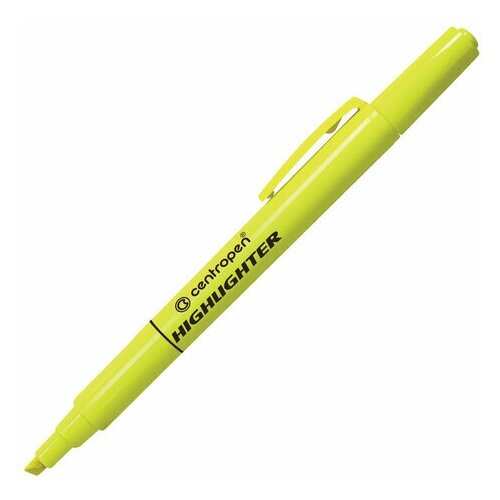 Купить Маркер-текстовыделитель Centropen 8722 (1-4мм, желтый) 4шт., 10 уп. (4 8722 9351), Маркеры