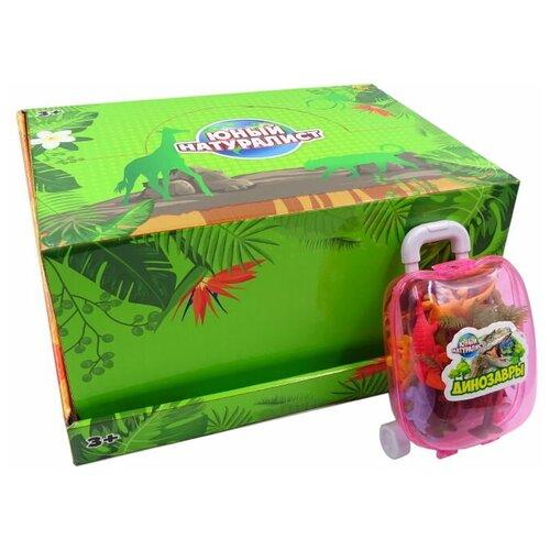 Фото - Игровой набор ABtoys Юный натуралист в чемоданчике Динозавры игровые наборы abtoys набор морских животных в чемоданчике юный натуралист
