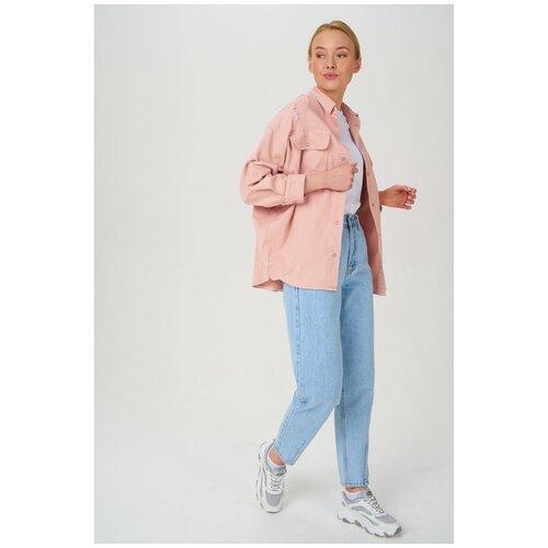 Джинсовая куртка-рубашка T4F W2905.99 Розовый 44