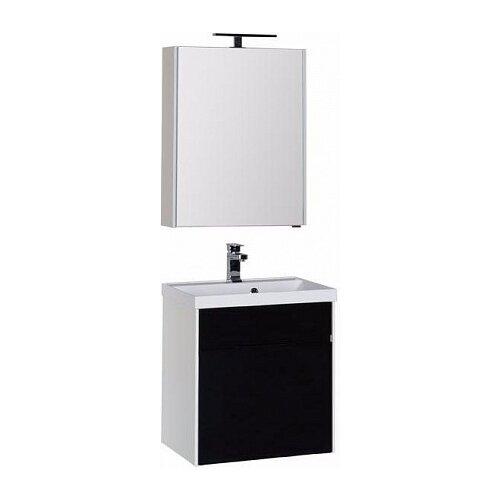 Aquanet Комплект мебели для ванной Aquanet Латина 60 черный (1 ящик) (00181078)