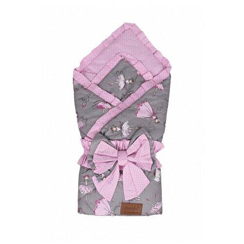 Купить Конверт-одеяло Amarobaby Happy балерины 93 см розовый, Конверты и спальные мешки