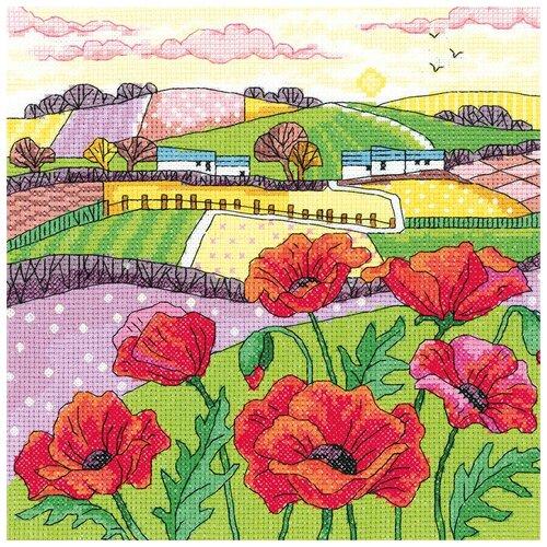 Набор для вышивания Маковое поле HERITAGE KCPL1475E