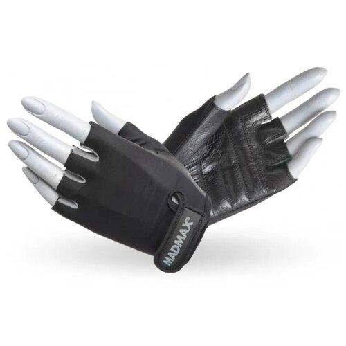 Перчатки для фитнеса / перчатки спортивные Rainbow MAD MAX, натуральная кожа, серые L