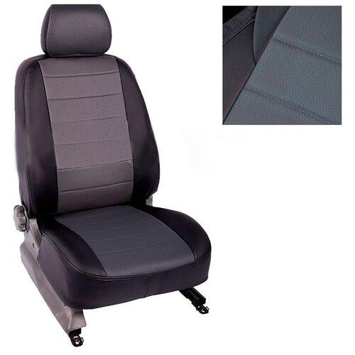 Чехлы из экокожи Seintex для Nissan Almera IV 40/60 2013-н.в. (серо-черные, 88454)