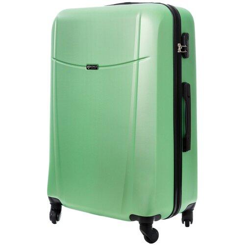 чемодан bonle премиум abs пластик салатовый размер s 55 см 37 л Чемодан Bonle, премиум ABS-пластик, Салатовый, размер L, 75,5 см, 91 л