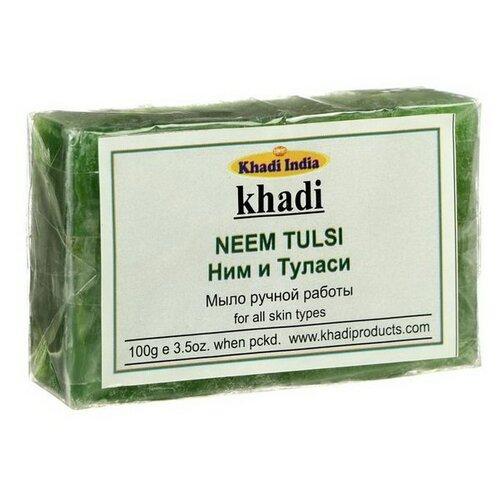 Мыло кусковое Khadi Neem tulsi, 100 г
