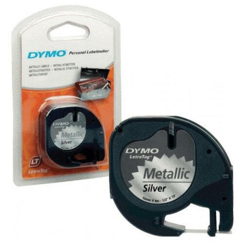 Картридж ленточный Dymo LT S0721730 черныйсеребристый металик для Dymo