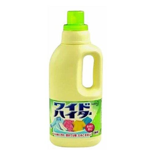 пятновыводитель кислородный жидкий attack wide haiter ex power 600 мл Жидкий кислородный отбеливатель для цветного белья КAO Wide Haiter, бутылка 1000 мл