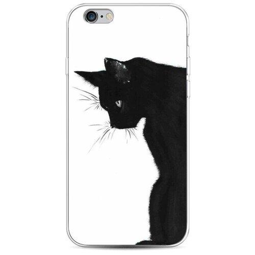 Силиконовый чехол Black cat на Apple iPhone 6/6S / Айфон 6/6S чехол mediagadget для apple iphone 6 6s black