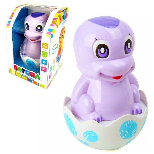 Детская развивающая музыкальная игрушка для малышей Неваляшка динозаврик