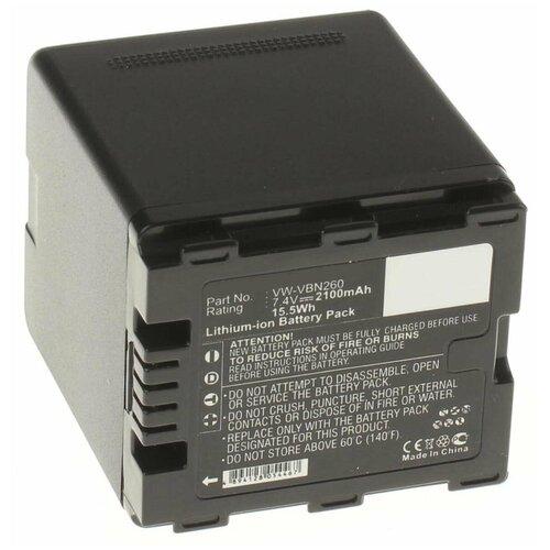 Аккумулятор iBatt iB-U1-F229 2100mAh для Panasonic HC-X800, HC-X920, HDC-SD800, HC-X900, HC-X810, HDC-TM900, HC-X900M, HDC-SD900, HDC-HS900, HDC-TM900K, HC-X800GK, HC-X900K, HC-X909, HDC-HS900GK, HDC-HS900K,