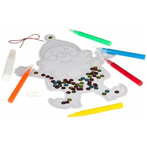 Набор для творчества Ёлочные украшения из бумаги, арт. ВВ2148 наборы для творчества bondibon набор для творчества ёлочные украшения из бумаги