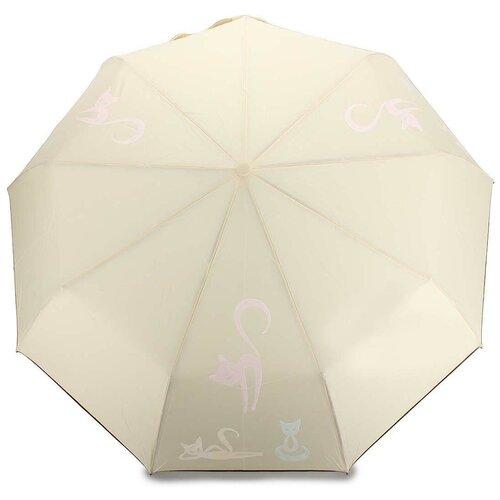 Женский зонт автомат с проявляющимся рисунком 605 Beige