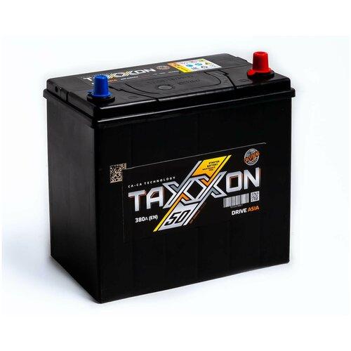 Аккумулятор автомобильный TAXXON DRIVE ASIA 50R 380 А обр. пол. 50 Ач тонкие клеммы (701050)