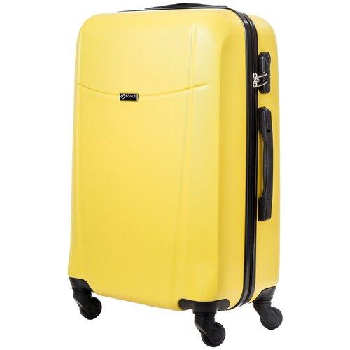 чемодан bonle премиум abs пластик салатовый размер s 55 см 37 л Чемодан Bonle, премиум ABS-пластик, Желтый, размер M, 65 см, 62 л