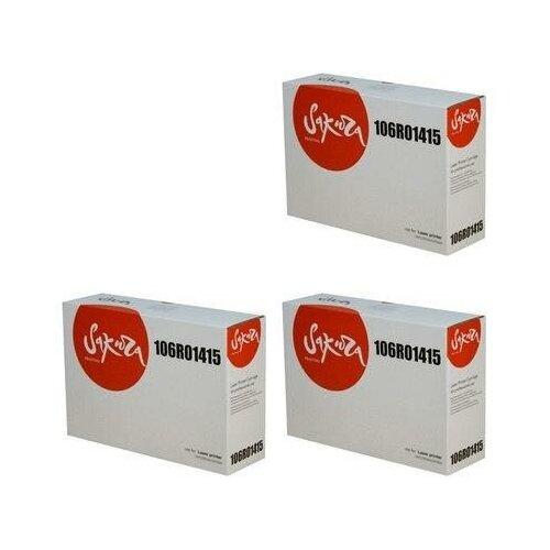 Sakura SA106R01415-3PK Картриджи комплектом 106R01415 черный 3 упаковки, совместимый [выгода 3%] Black 30К для Phaser 3435DN 3435