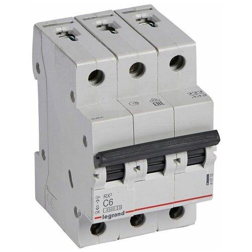 Автоматические выключатели Legrand Legrand Автоматический выключатель RX³ 3P 6A 4,5kA