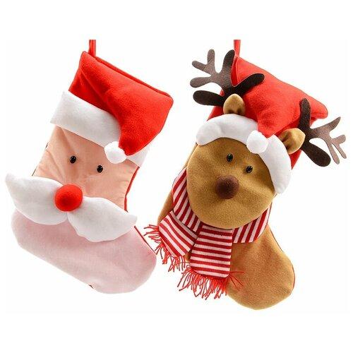 Фото - Носок для подарков новогодние чудаки, 34х48 см, разные модели, Kaemingk трафарет новогодние картинки 18 5х25 см kaemingk 461268