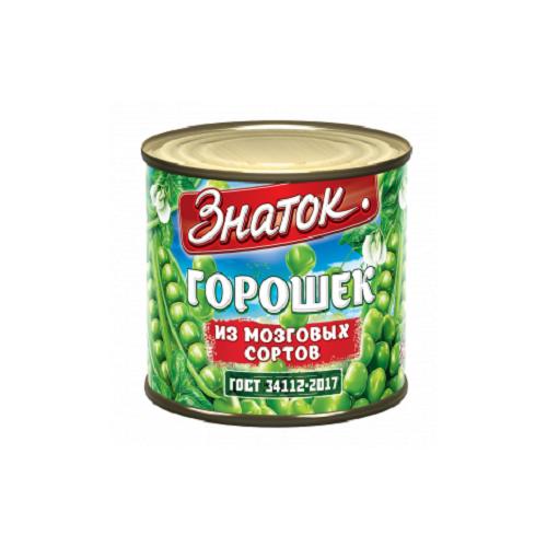 Зеленый горошек высший сорт Знаток ГОСТ -425 мл) ж/б