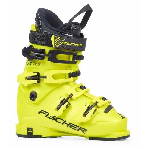 Фото - Ботинки для горных лыж Fischer RC4 70 Jr 24.5 (Размер производителя) желтый 2021-2022 палки для горных лыж elan hotrod jr 2017 2018 70 белый