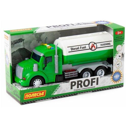 Автомобиль Полесье Профи, с цистерной, инерционный, со светом 86471, Машинки и техника  - купить со скидкой